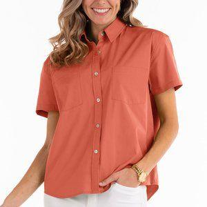 Fresh Produce S Poppy Oxford Camp Button Shirt